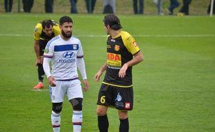 Nabil Fekir a été bien bloqué par la défense de Chasselay ce samedi.