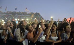 Les fans de Lomepal lors de la 35e édition du festival des Francofolies de la Rochelle