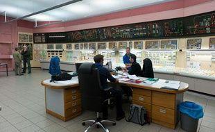 Le centre de controle du reacteur nucleaire de la centrale nucleaire du Blayais. A Braud et Saint-Louis, 26 janvier 2012.