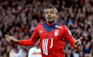 L'attaquant lillois Salomon Kalou, le 7 avril 2013, contre Lorient.