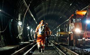 Le chantier du RER A entre la Défense et Auber