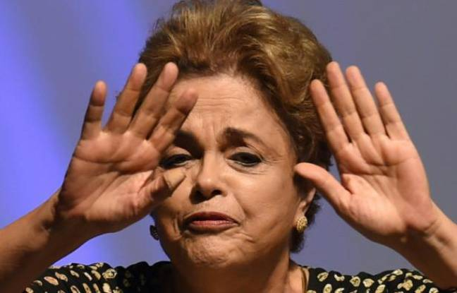La présidente brésilienne Dilma Rousseff à Brasilia le 10 mai 2016