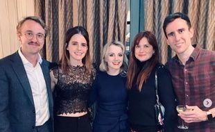 Tom Felton, Emma Watson, Evanna Lynch, Bonnie Wright et Matthew Lewis se sont retrouvés pour les fêtes.