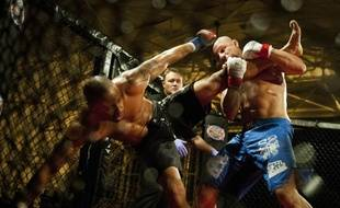 Combattants de MMA sur le ring