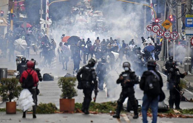 648x415 manifestations derniers jours colombie fait moins 17 morts centaines blesses