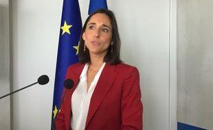 Brune Poirson, la secrétaire d'Etat à la Transition écologique et solidaire, en visite à Toulouse le 29 août 2018, au lendemain de la démission de Nicolas Hulot.