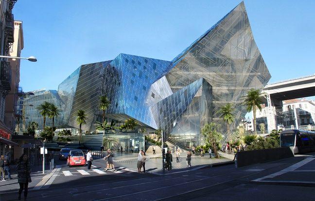Centre Ville De Futur Vue Parking Exterieur