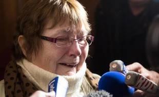 """Yvette Bert, surnommée """"Mamie Loto"""", le 6 novembre 2014 au tribunal correctionnel d'Arras"""