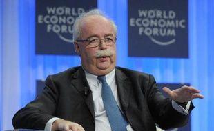 Le PDG du groupe Total, Christophe de Margerie, au Forum économique mondial à Davos, en Suisse, le 25 janvier 2014