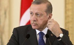 Le président turc Recep Tayyip Erdogan, le 1er avril 2015 à Bucarest, en Roumanie