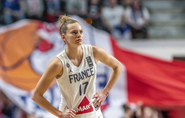 Juste Jocyte s'inspire beaucoup du jeu spectaculaire de sa coéquipière lyonnaise Marine Johannès, ici sous le maillot de l'équipe de France en février 2020.