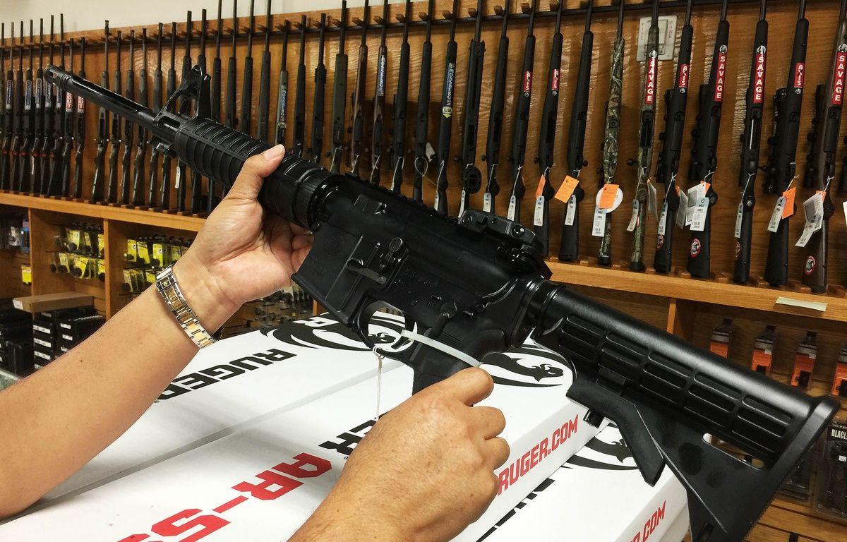 Illustration: un fusil semi-automatique AR-15. –  XINHUA/SIPA