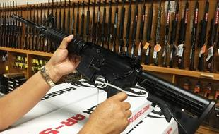 Illustration: un fusil semi-automatique AR-15.