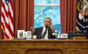 Barack Obama dans le bureau ovale, le 27 septembre 2013.