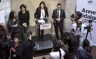 Anne Hidalgo lors de la présentation des grandes lignes de son programme de campagne, le 23 septembre 2013.