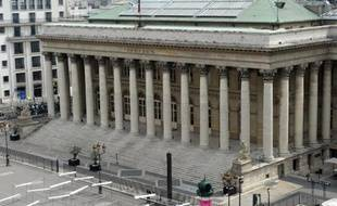 Le Palais Brongniart, ancien siège de la Bourse de Paris, le 2 juin 2014