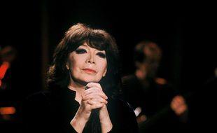 La chanteuse Juliette Gréco en 1990.