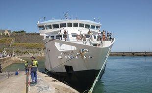 Arrivée de touristes à Belle-Ile-en-Mer, juillet 2020. (Illustration)