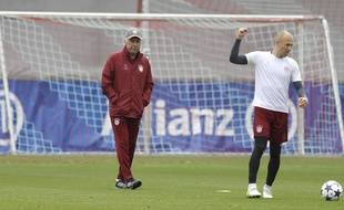Ancelotti et Robben.