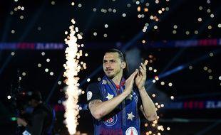 Les adieux de Zlatan Ibrahimovic au parc des Princes, le 14 mai 2016.
