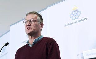 Anders Tegnell, épidémiologiste à l'Agence suédoise de santé publique, le 6 avril 2020 à Stockholm.