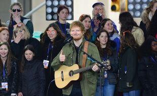 Ed Sheeran sur le plateau du Today Show le 8 mars dernier