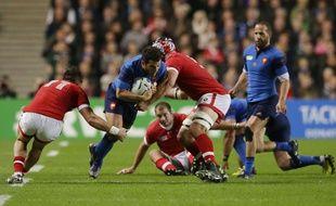 Brice Dulin lors de France-Canada en phase de poule de la Coupe du monde de rugby, le 1er octobre 2015 à Cardiff.