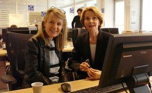La journaliste Sophie Carquain et La psychologue Monique de Kermadec
