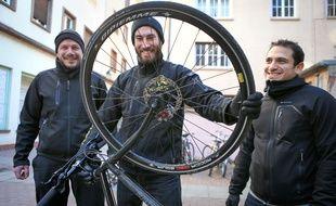 Strasbourg le 17 janvier 2017. La réparation de vélo à domicile débarque dans la première ville cyclable de France avec Cyclofix
