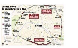 Les projets de couverture du périphérique parisien.