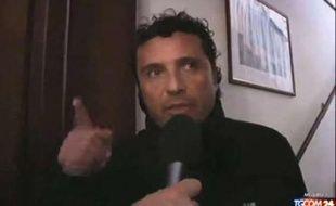 Le commandant Francesco Schettino donne une interview télévisée le 14 janvier 2012, au lendemain du naufrage de Costa Concordia.