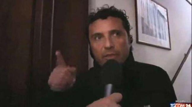 Le commandant Francesco Schettino donne une interview télévisée le 14 janvier 2012, au lendemain du naufrage de Costa Concordia. – AP/SIPA
