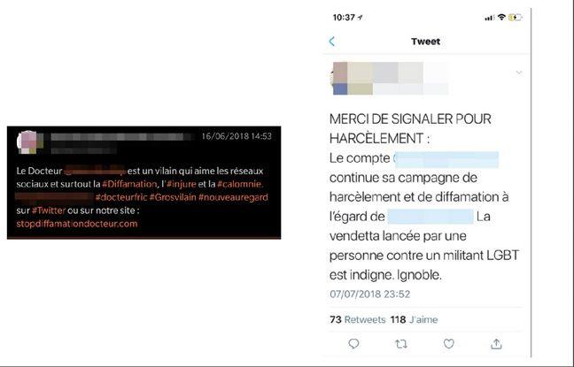 montage de certains tweets et réactions au harcèlement.