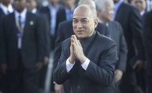 Norodom Sihamoni, roi du Cambodge, en novembre 2016  à Phnom Penh.