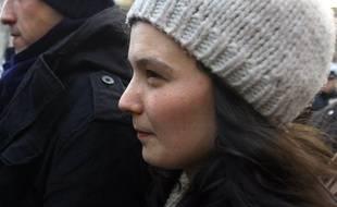 Yldune Lévy (photo) et son ancien compagnon Julien Coupat ont été relaxés, jeudi 12 avril 2018, au procès de l'affaire dite de Tarnac.