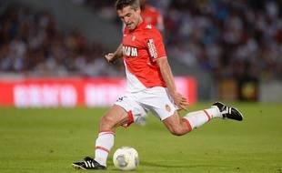Le milieu de terrain de l'AS Monaco Jérémy Toulalan lors du déplacement à Bordeaux le 10 août 2013.