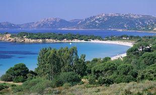 La plage de Palombaggia, en Corse.