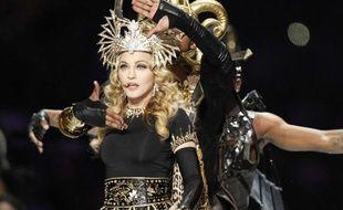 Madonna lors du Superbowl, le 5 février 2012.