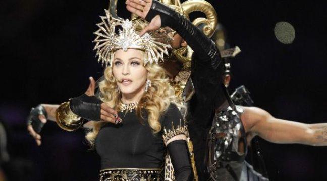 Madonna lors du Superbowl, le 5 février 2012. – CAL SPORT MEDIA/SIPA