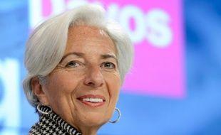 La directrice générale du FMI, Christine Lagarde, le 21 janvier 2016 à Davos en Suisse