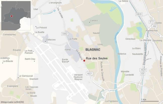 L'agression s'est produite rue des Saules, à Blagnac, le dimanche 11 avril 2021.
