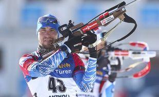 Alexander Loginov a fait l'objet d'une perquisition dans sa chambre d'hôtel lors des Mondiaux de biathlon d'Antholz, en février 2020.