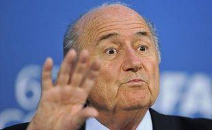 Sepp Blatter, le président de la FIFA, le 25 mai 2012, à Budapest.