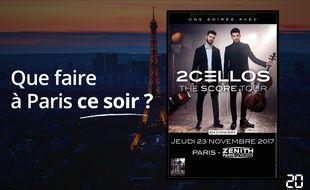 2Cellos sera ce soir au Zénith.