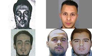 Mohamed Belkaïd, Salah Abdeslam, Najim Laachraoui et les frères al-Bakraoui.