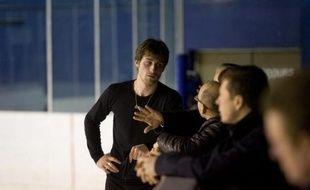 Le patineur français Brian Joubert, lors d'un test de sélection sur la patinoire de Bercy, le 15 mars 2010.