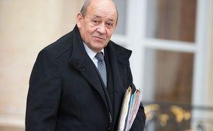 Jean-Yves Le Drian à l'Elysée le 25 novembre 2015.