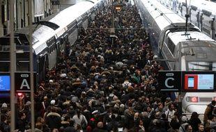 La gare de Lyon, d'où partent les trains qui desservent la Côte d'Azur,  en pleine grève le 3 avril 2018