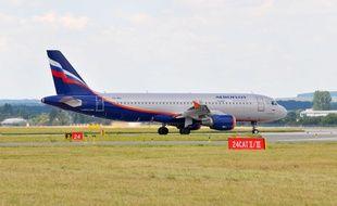 Illustration d'un appareil de la compagnie aérienne russe Aeroflot.