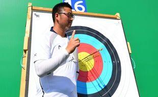 Kim Woojin à Rio lors des premières épreuves des JO 2016.